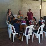 Volunteers teaching English in the Peruvian Amazon in Puerto Inca, Huanuco, Peru