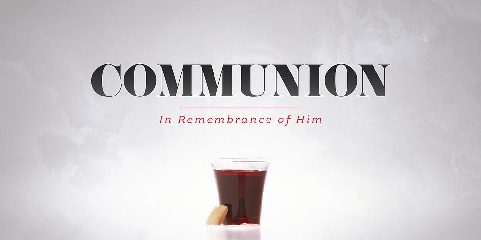 Communion Service Wednesday Sept. 30th