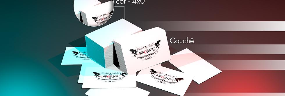 1000 Cartões de Visita-Couchê Brilho 250g