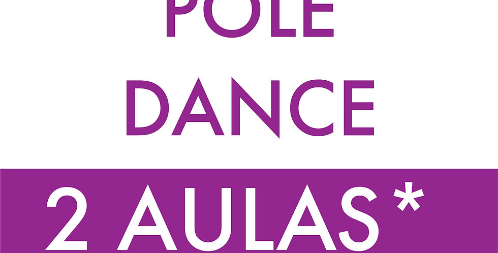 Aulas de pole dance 2 x na Semana, Valor mensal