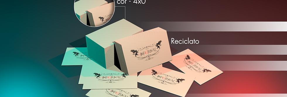 1000 Cartões de Visita-Reciclato 240g