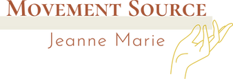 Movement Source logo with the name Jeanne Marie underneath and a drawn hand on the right