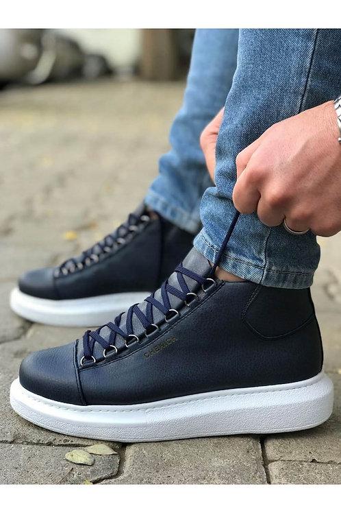 Chekich Metallic Grey Half Boot