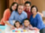 Multi Generation Family Celebrating Chil