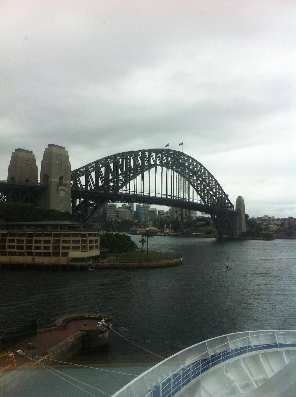Sydney Harbour Bridge depressed