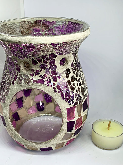 Soft Pink and Purple Luxury Oil/Wax Burner