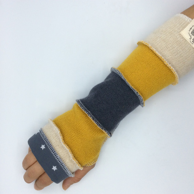 upcycled fingerless gloves - ladies yell