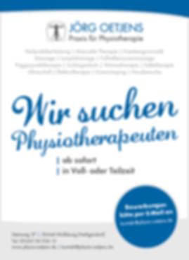Stellenausschreibung Phsyiotherapeutin oder Physiotherapeut Wolfsburg