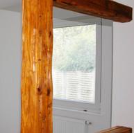 Wandgestaltung Holzbalken, Wohnbereich