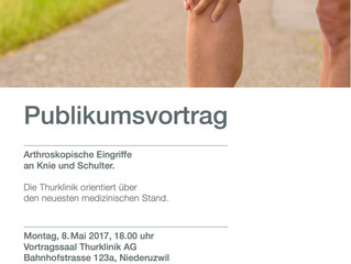 8. Mai: Arthroskopische Eingriffe an Knie und Schulter (Vortrag mit Workshop)