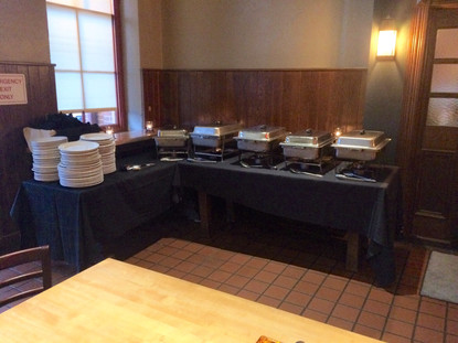 Catered food table