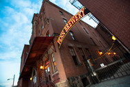 Penn Brewery sign and sky