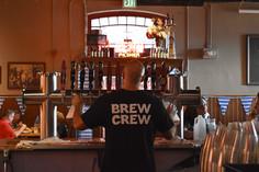 Brew Crew member at bar