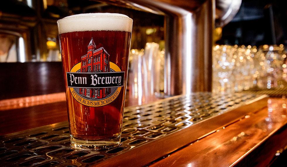 Medium beer in Penn Brewery cup