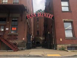 The Biergarten Penn Brewery large sign