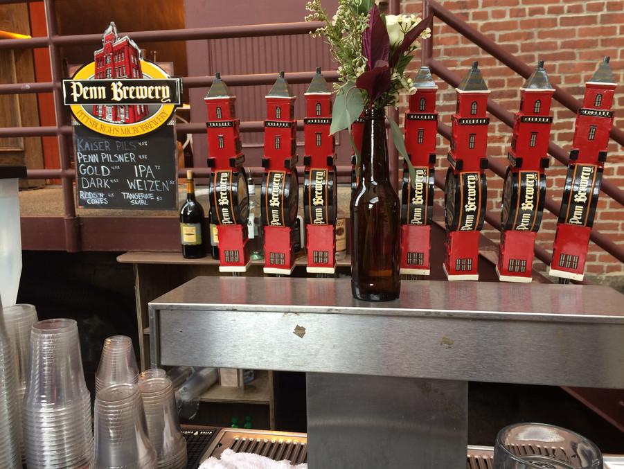 The Biergarten beer taps