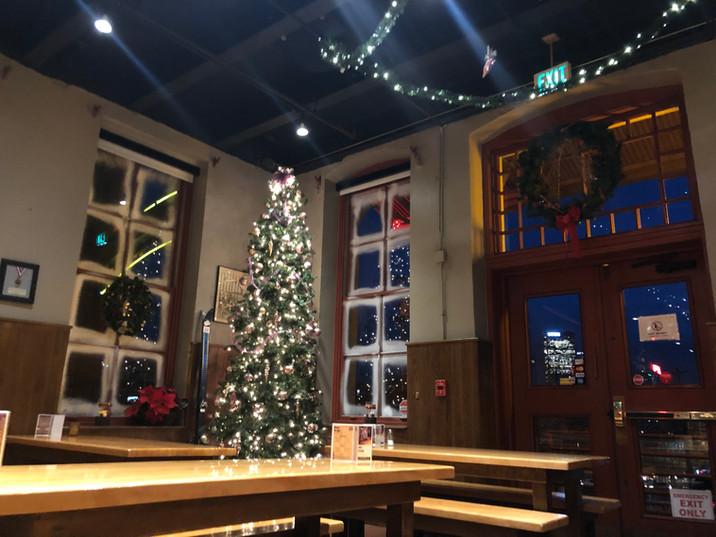 Main Dining Room with Christmas tree