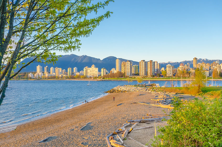 Sea walk at the Kitsilano Beach Park at