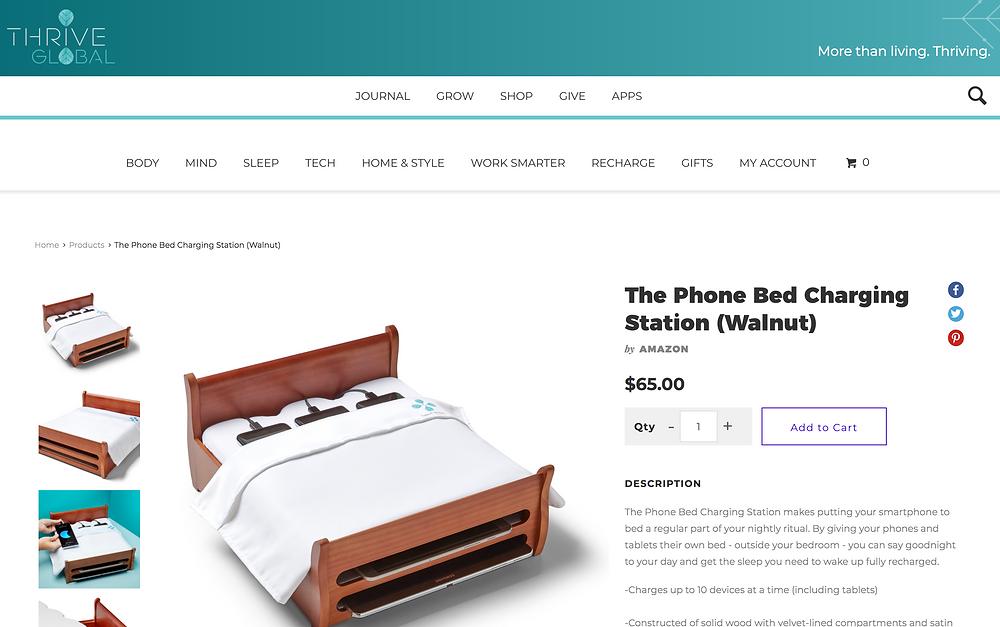 Thrive Global Phone Bed