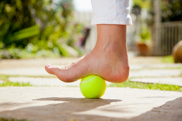 Tennis Ball Arch Stretch
