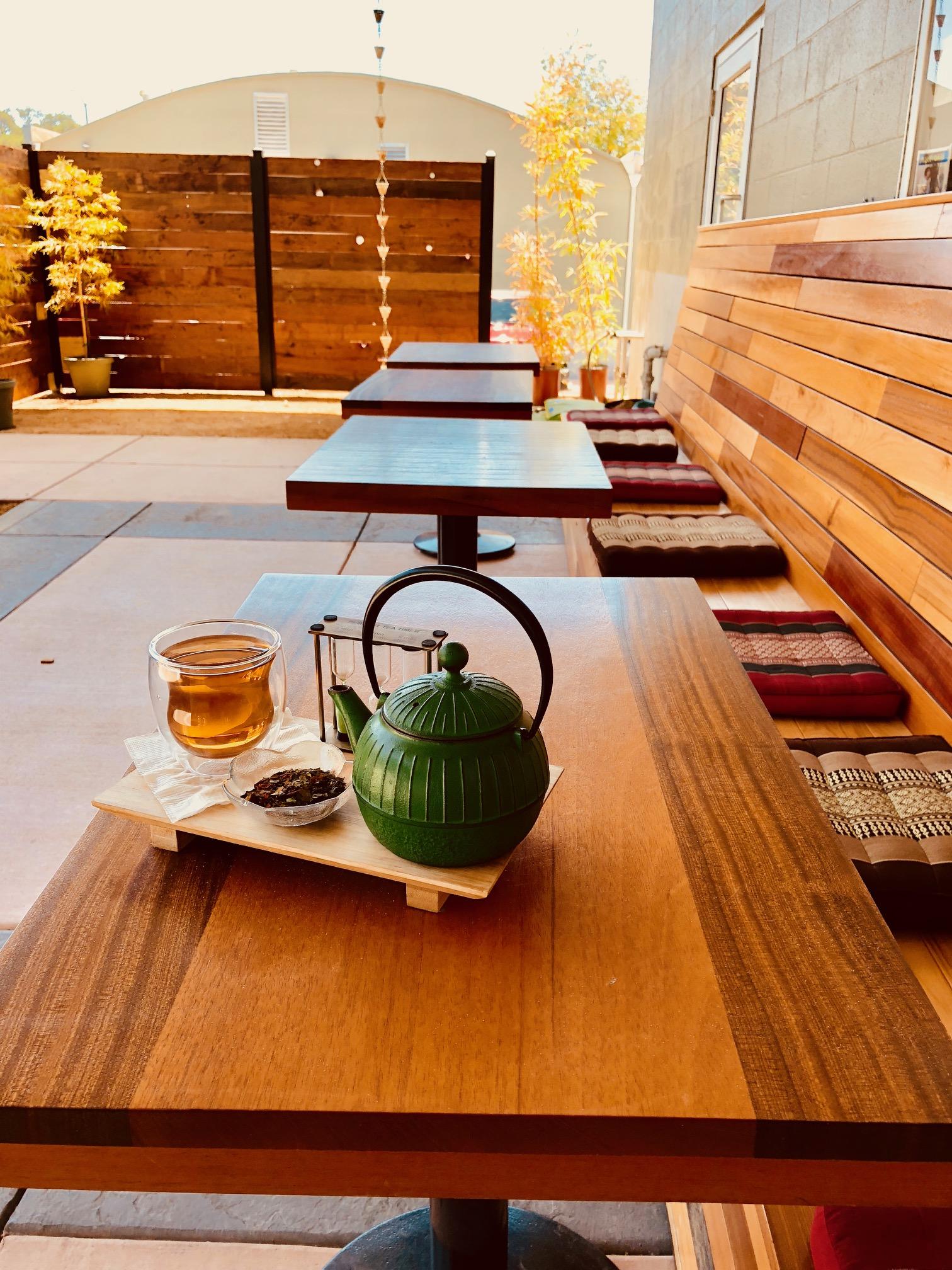 Tea on the patio