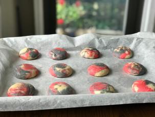 Tie-Dye Cheesecake Cookies