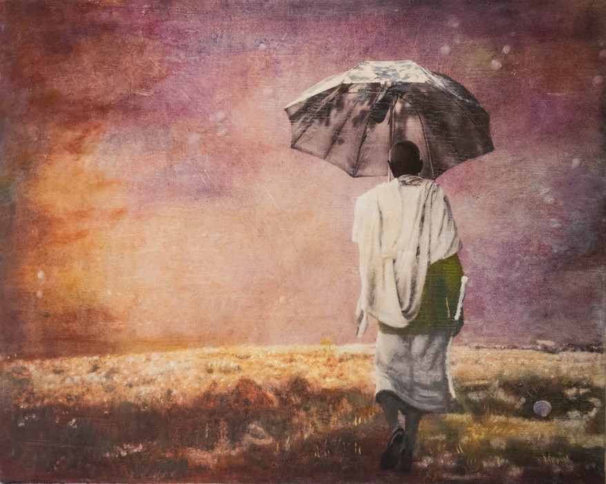 Old Man with Umbrella