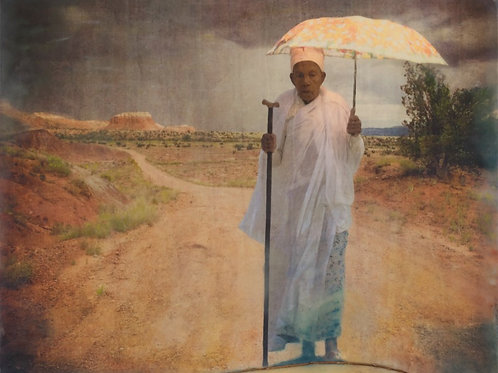 Old Lady with Umbrella