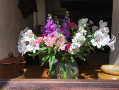 A Spring Display Between the Bar and Dining Room
