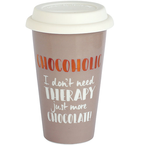 Chocoholic Ceramic Travel Mug
