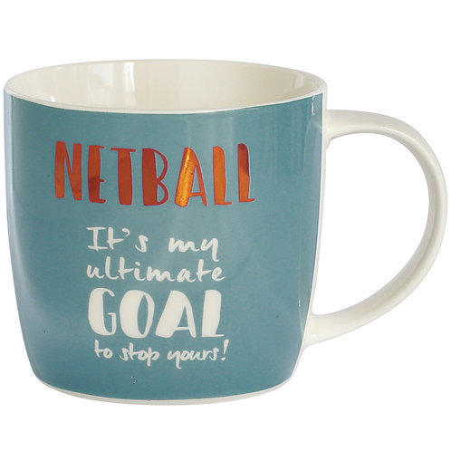 Netball Mug in Hat Box