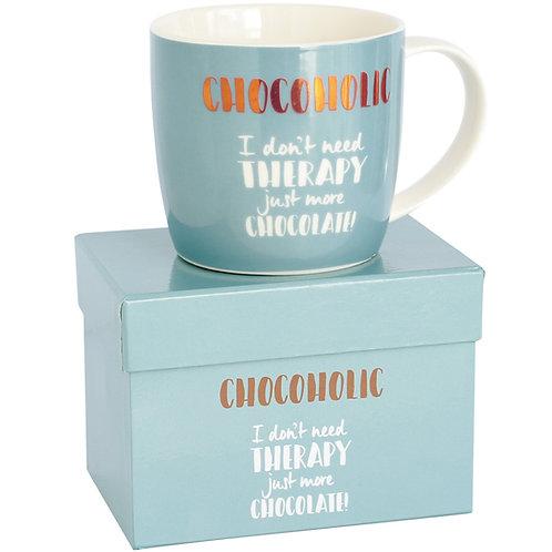 Chocoholic Mug in Hat Box