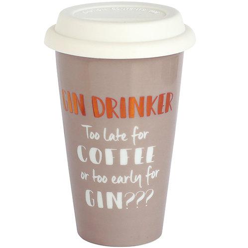 Gin Drinker Ceramic Travel Mug
