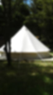 6 m diameter bell tent for eco tours and bush stays