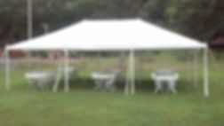 20' x 30' party tent rental  with 6 tables and 48 chairs