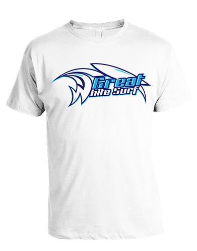 Great White Surf logo mens t-shirt
