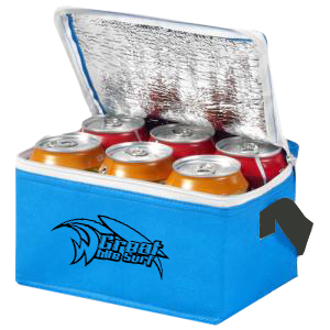 6 Can cooler bag blue