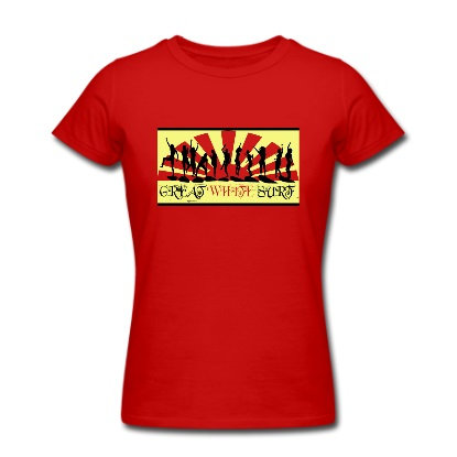 Great White surf ladies partying surfers t-shirt