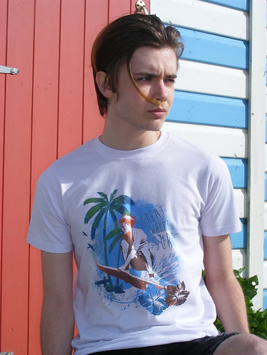 Island surfer mens t-shirt