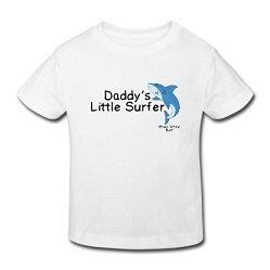 Great white surf Daddys little surfer shark t-shirt