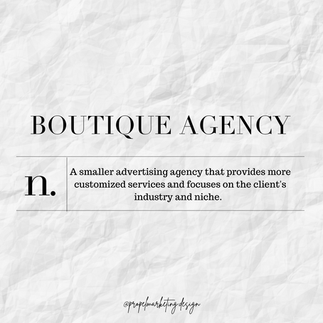 Boutique Agencies, What Are They and What Are the Benefits?