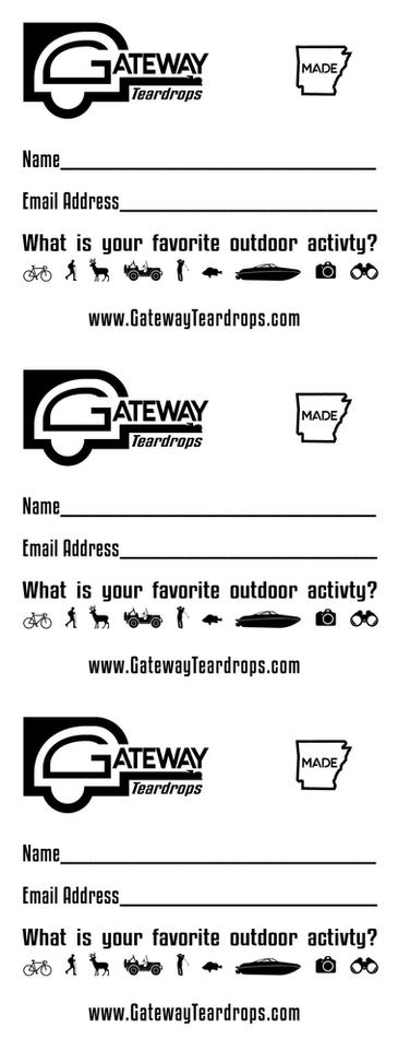 Gateway Teardrops Contact Card