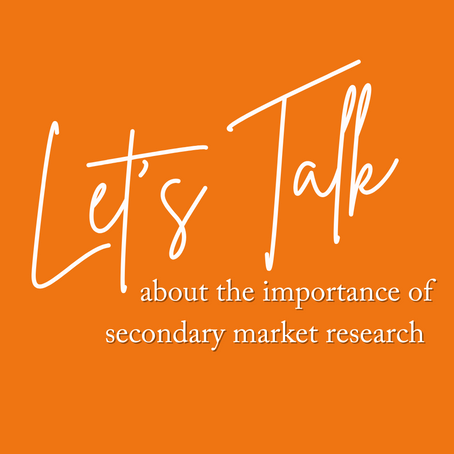 Secondary Research:  Here's why you NEED it.
