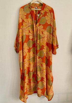 Lang silke kjole - Relove & Roses #56