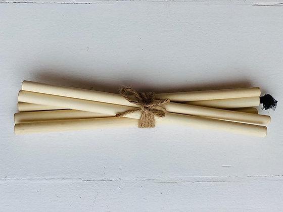 Bamboo straws 6 stk i et bundt. Renser medfølger