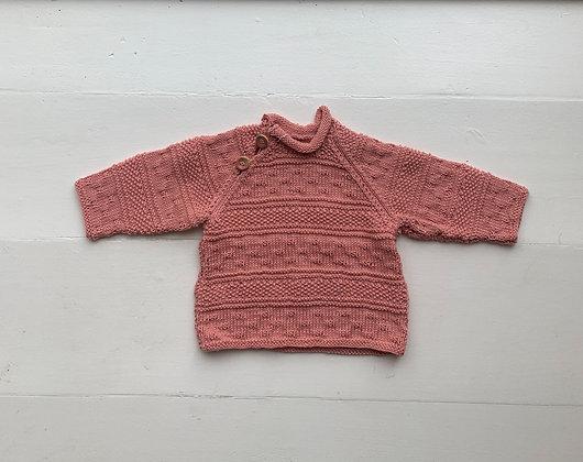 Bomuld sweater - lyserød