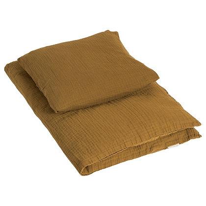 Sengetøj VOKSEN fra by KlipKlap - Golden Brown