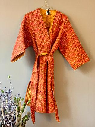 Molly jakke quiltet silke Relove&Roses orange