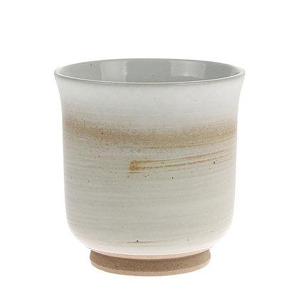 Keramik krus i crème/hvid