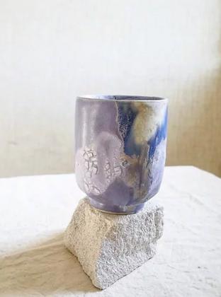 Keramik krus i farven blueberry